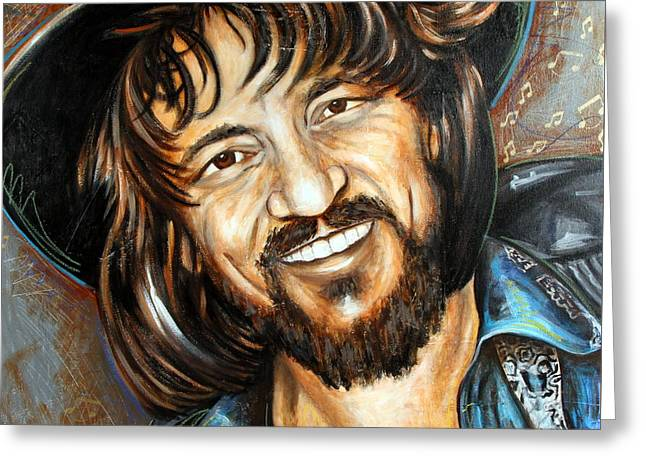 Waylon Jennings Greeting Card