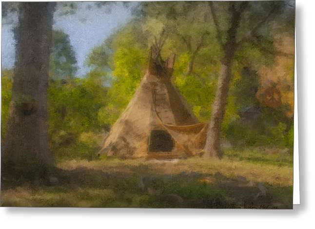 Wayne And Karen's Teepee Greeting Card