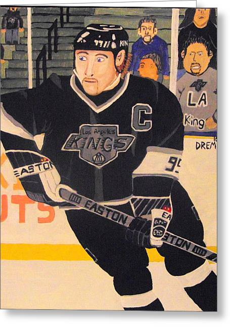 Wayne Gretzky The Great One Greeting Card by David Manicom