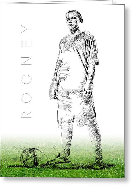 Wayne Rooney Greeting Card by ISAW Gallery