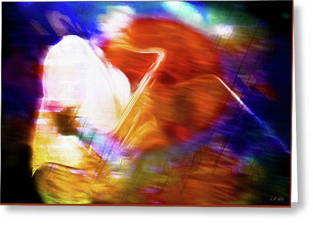 Wayne Shorter   Digital Watercolor Paintings Greeting Card