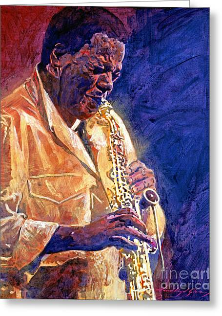 Wayne Shorter The Message Greeting Card by David Lloyd Glover