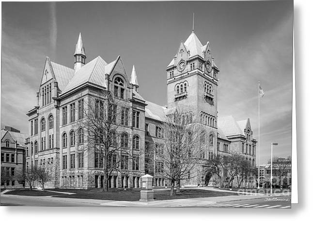 Wayne State University Old Main Greeting Card by University Icons