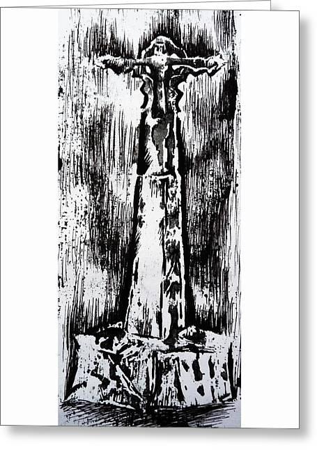 Wayside Cross Greeting Card