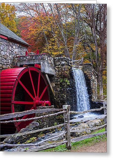 Wayside Inn Grist Mill Autumn Sudbury Ma Greeting Card by Toby McGuire