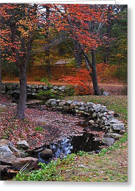 Wayside Inn Stream Sudbury, Ma Greeting Card by Toby McGuire