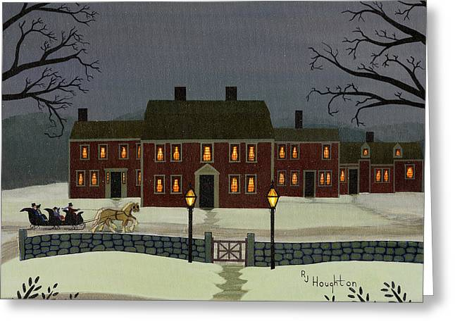 Wayside Winter's Eve Greeting Card