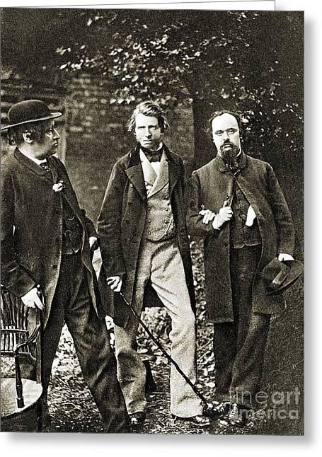 W.b. Scott, John Ruskin, Dante Gabriel Greeting Card