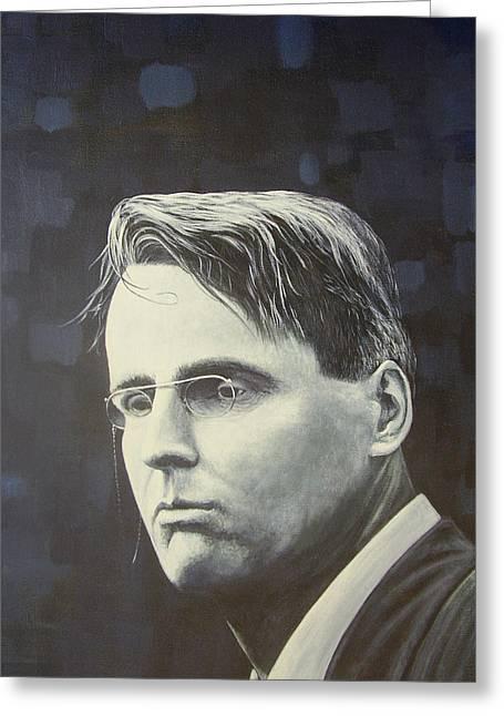 W.b. Yeats Greeting Card by Eamon Doyle