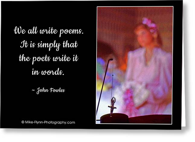 We All Write Poems Greeting Card