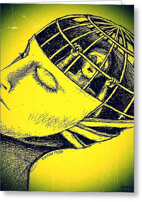 We And Our Power To Imprison Our Own Conscience Greeting Card by Paulo Zerbato