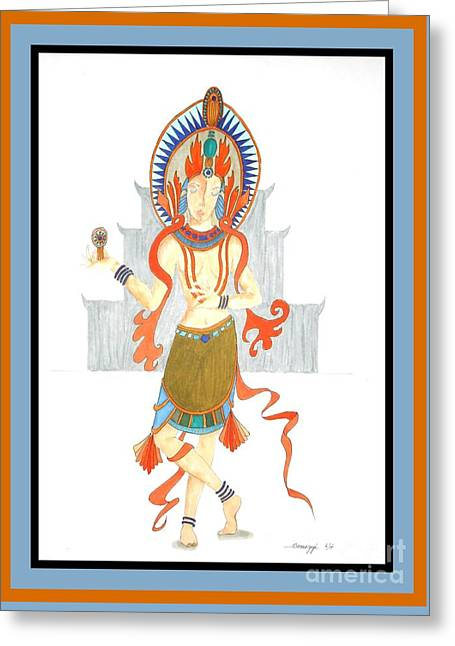 We Are All Goddesses -- Portrait Of Hindu Goddess Greeting Card by Jayne Somogy