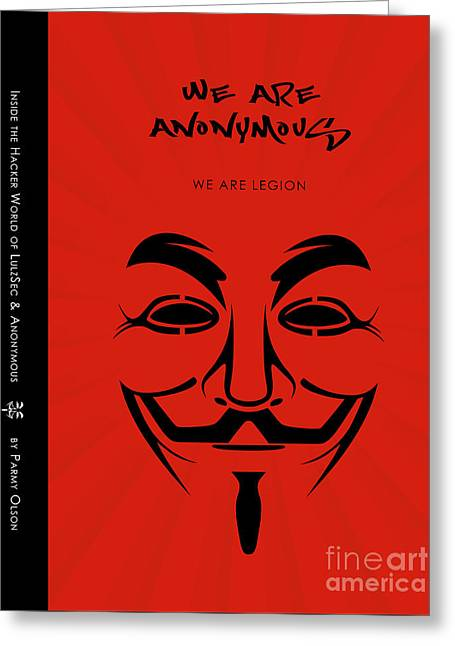 We Are Anonymous Minimalist Movie Poster Book Cover Art 1 Greeting Card