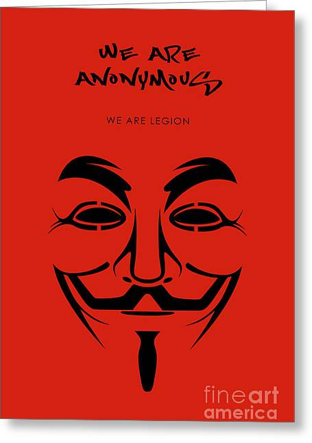 We Are Anonymous Minimalist Movie Poster Book Cover Art 2 Greeting Card
