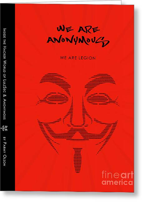 We Are Anonymous Minimalist Movie Poster Book Cover Art 3 Greeting Card