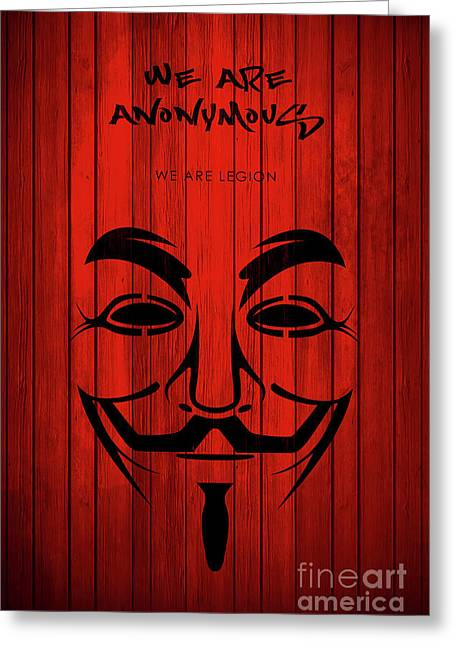 We Are Anonymous Minimalist Movie Poster Book Cover Art 4 Greeting Card