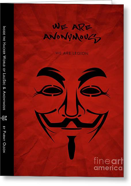 We Are Anonymous Minimalist Movie Poster Book Cover Art 5 Greeting Card