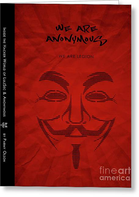 We Are Anonymous Minimalist Movie Poster Book Cover Art 6 Greeting Card