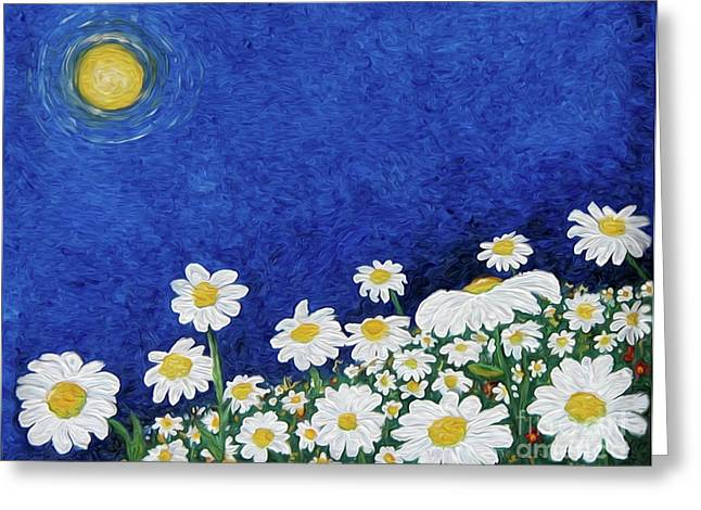We Are Daisies Greeting Card by Laura Brightwood
