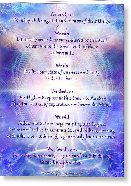 We Are Here 2016 Declaration V069 Greeting Card