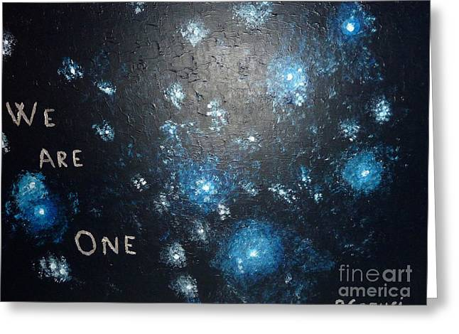 We Are One Greeting Card by Piercarla Garusi