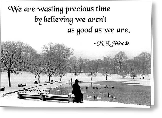 We Are Wasting Precious Time Greeting Card by Mike Flynn