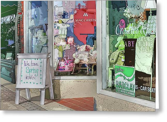 Main Street Greeting Cards - We have Spring inside Greeting Card by David Bearden
