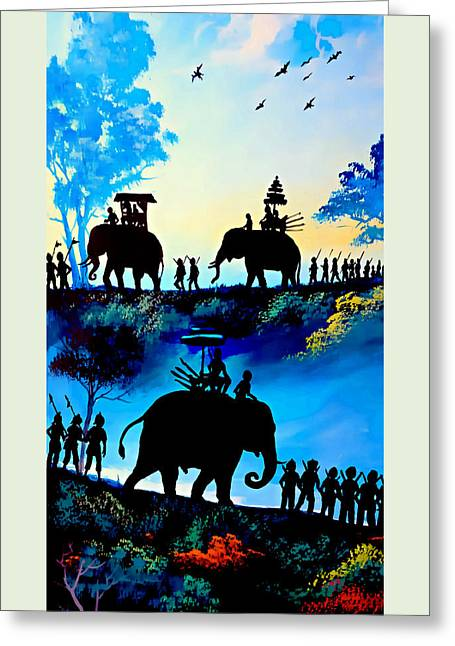 We March At Sunrise  Greeting Card