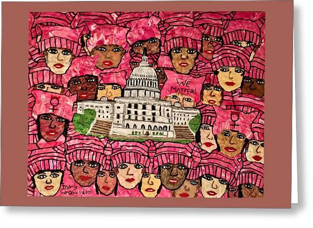 We Matter Greeting Card by Deborah Stanley