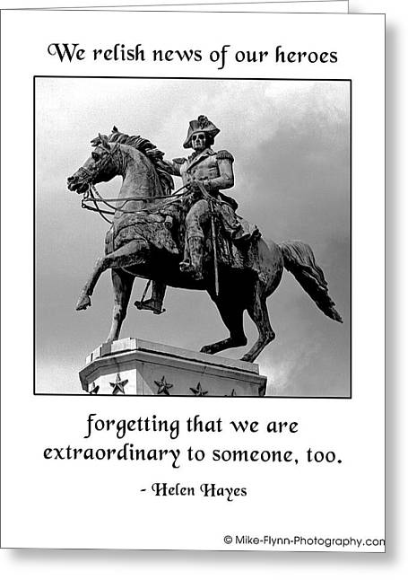 We Relish News Of Our Heroes Greeting Card