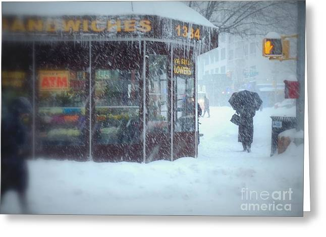 We Sell Flowers - Winter In New York Greeting Card