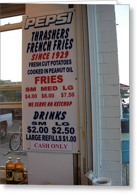 We Serve No Ketchup Greeting Card