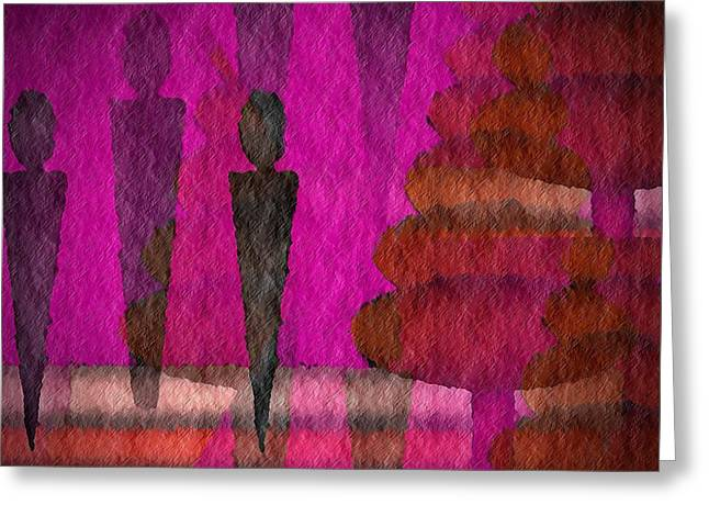 We Stand In The Shadows Greeting Card by Terry Mulligan