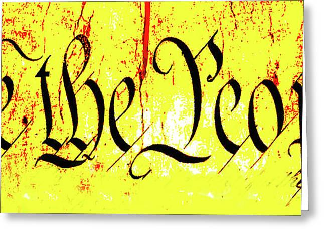 We The People Celebrate A Republic Artist Series Jgibney The Museum Greeting Card by The MUSEUM Artist Series jGibney