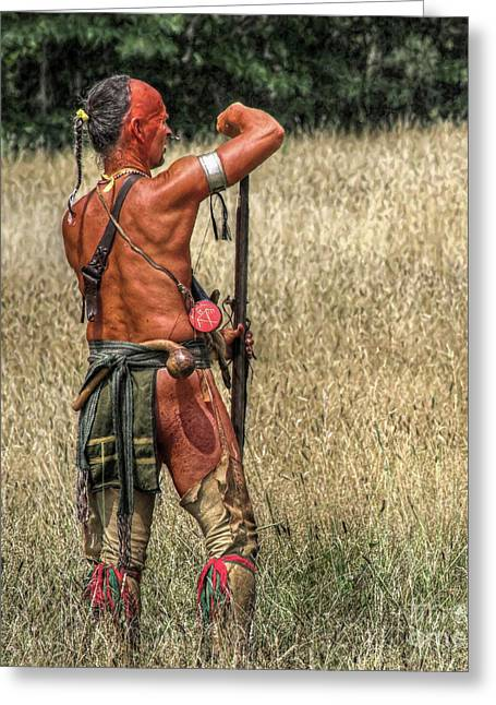 We Were Once Here....shawnee Warrior Greeting Card by Randy Steele