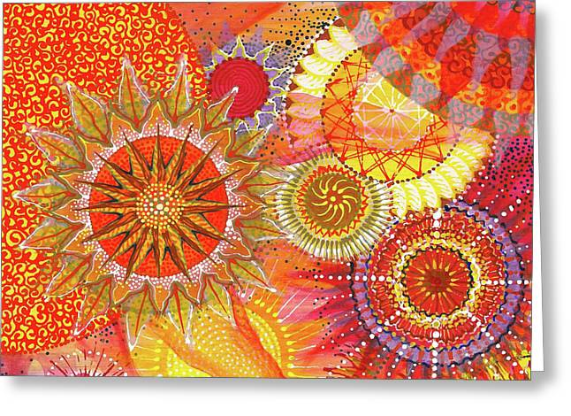 Greeting Card featuring the painting We Will Have Many Suns #2 by Kym Nicolas