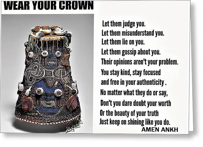 Wear Your Crown Greeting Card