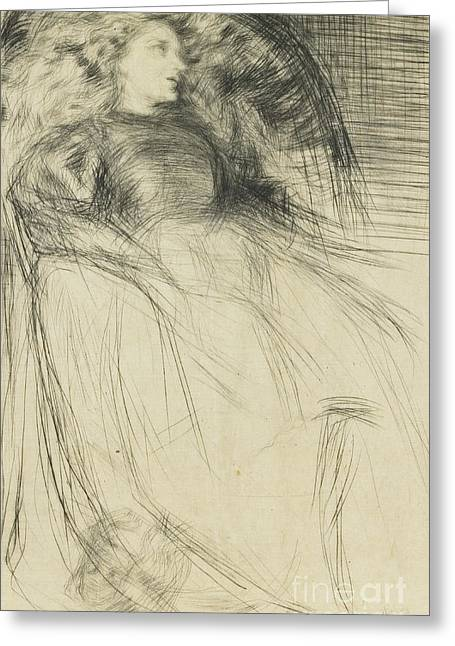 Weary Greeting Card by James Abbott McNeill Whistler