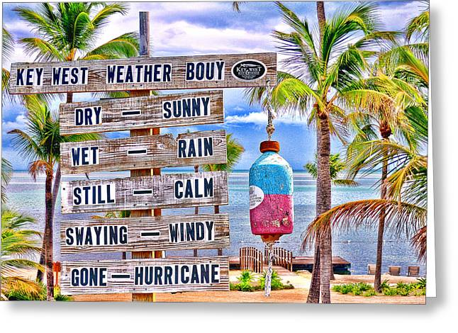 Weather Bouy Greeting Card by Steve Cole