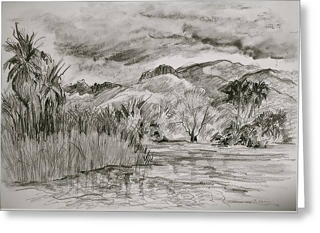 Weather Over Agua Caliente Greeting Card