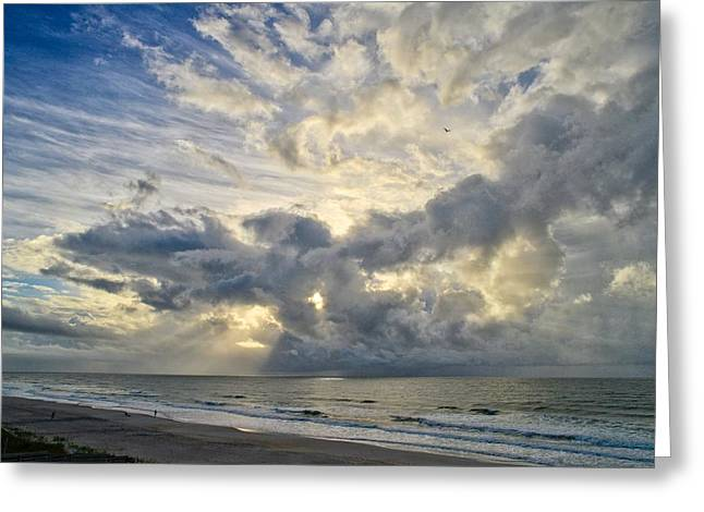 Weather Over Topsail Beach 2977 Greeting Card