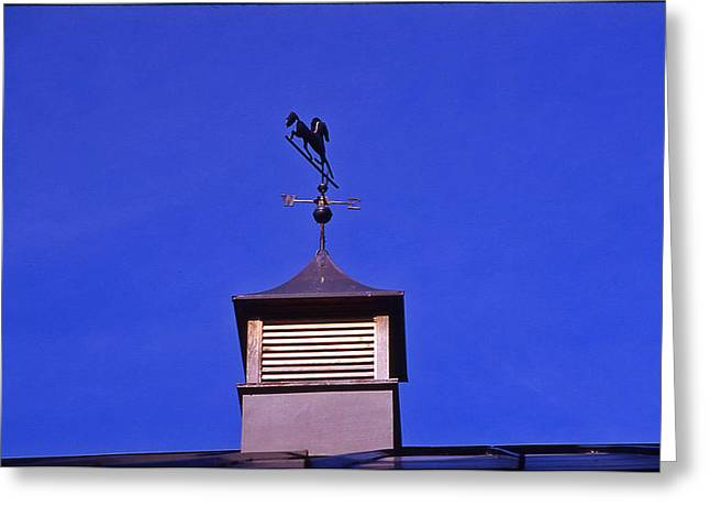 Weather Vane Greeting Card by Randy Muir