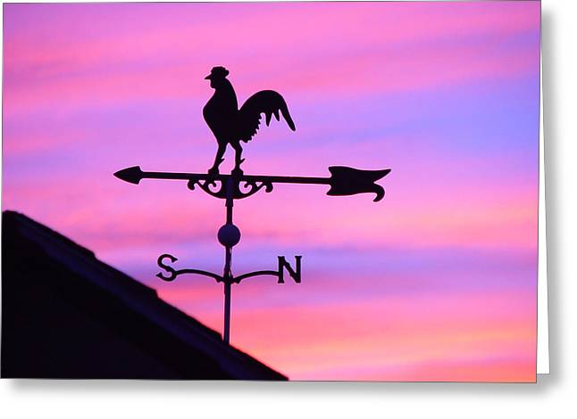 Weather Vane, Wendel's Cock Greeting Card