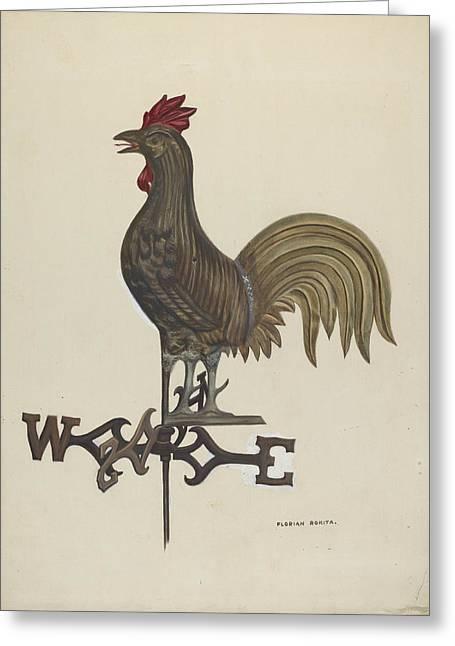 Weathercock Greeting Card by Florian Rokita