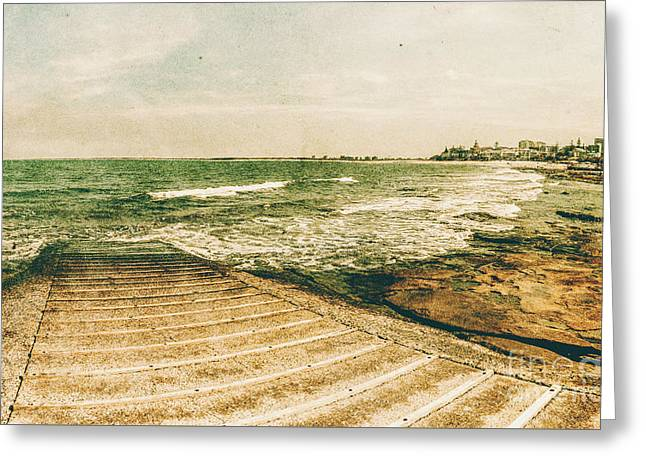 Weathered And Bygone Ocean View Greeting Card by Jorgo Photography - Wall Art Gallery