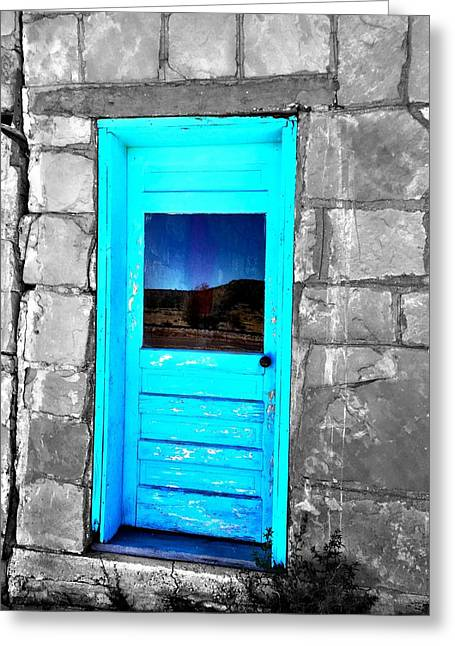 Weathered Blue Greeting Card