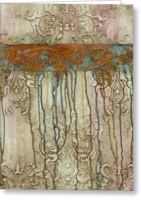 Faux Finish Greeting Cards - Weathered Greeting Card by Chris Brandley