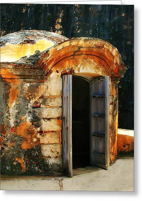 Weathered Entry Greeting Card by Perry Webster