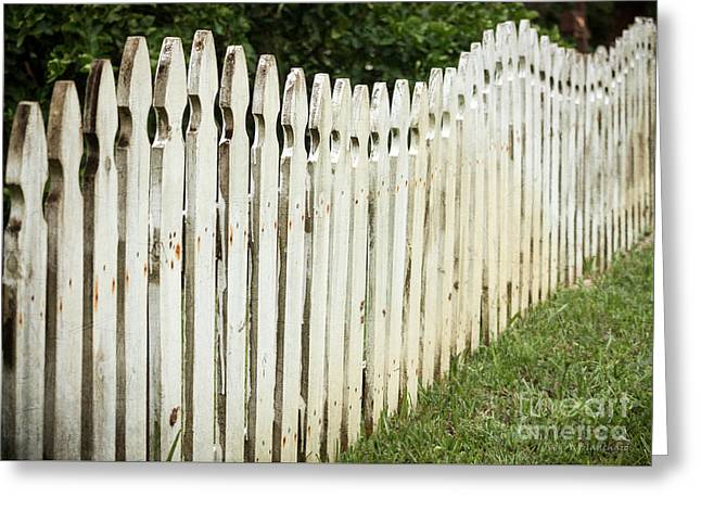 Weathered Fence Greeting Card