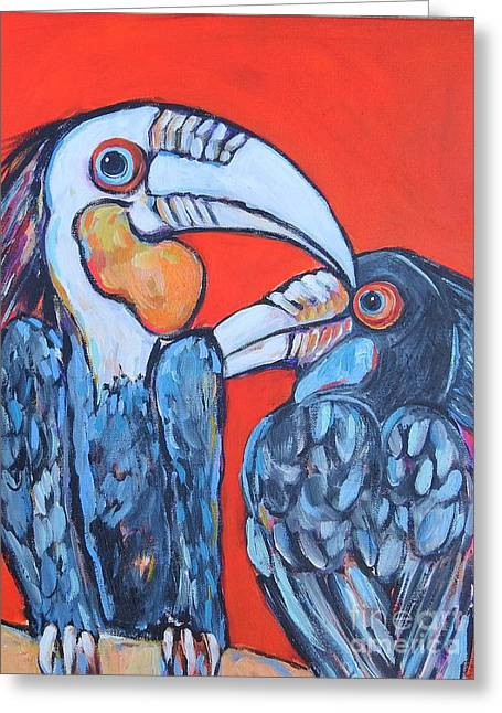 Weathered Hornbills Greeting Card